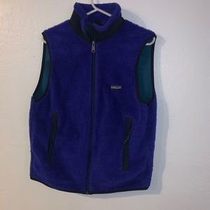 Made in USA Patagonia deep pile vest